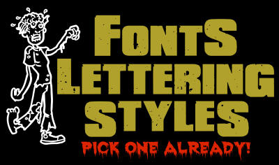 fonts style for sticker