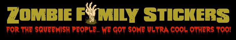 create yours now zombie family sticker